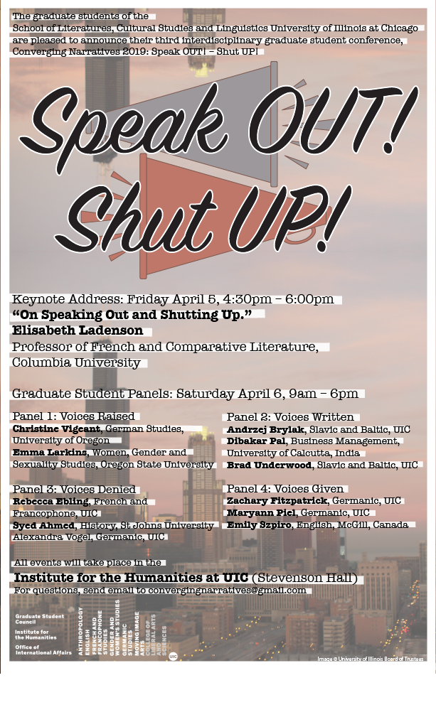 Speak OUT! Shut UP!