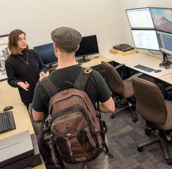 Hannah Huber discusses Digital Scholarship Hub