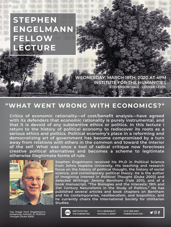 Stephen Engelmann Fellow Lecture Flyer